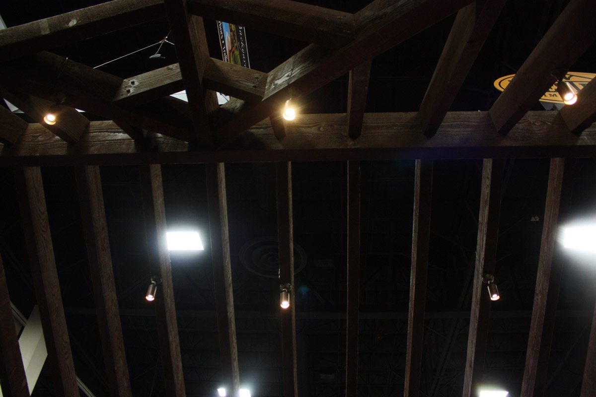 Rafters roof pavilion lighting
