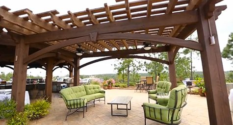 patio furniture pergola