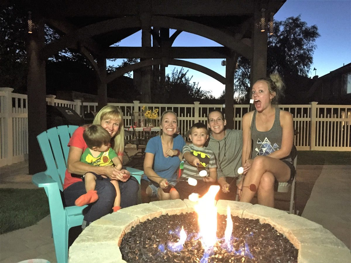 fire pit family