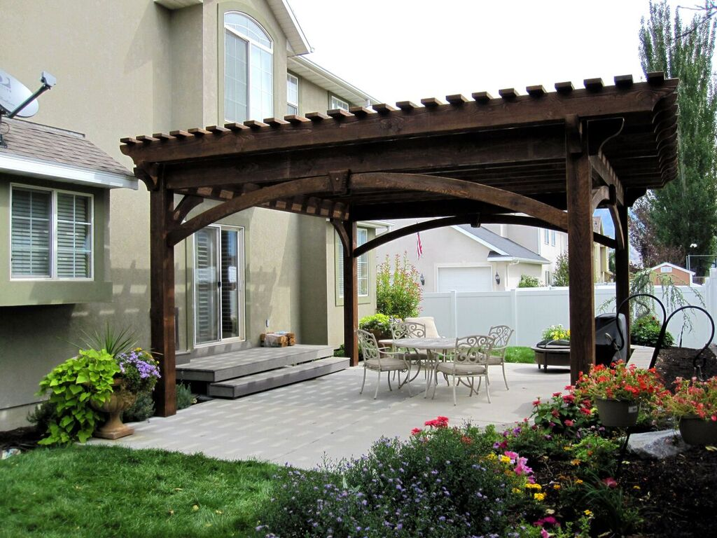 Your own beautiful new backyard in one afternoon western - Pergolas para patios ...