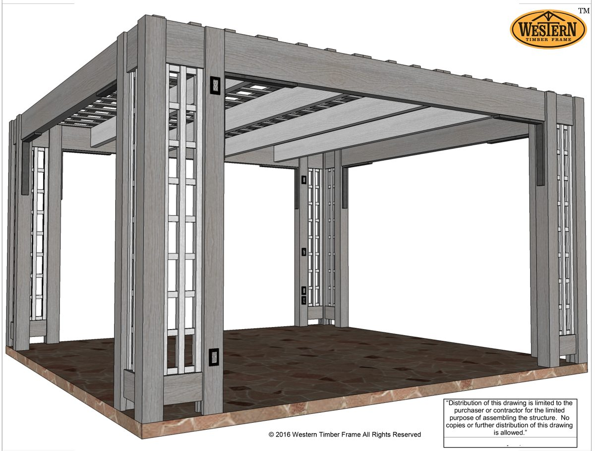 Contemporary design for pergola