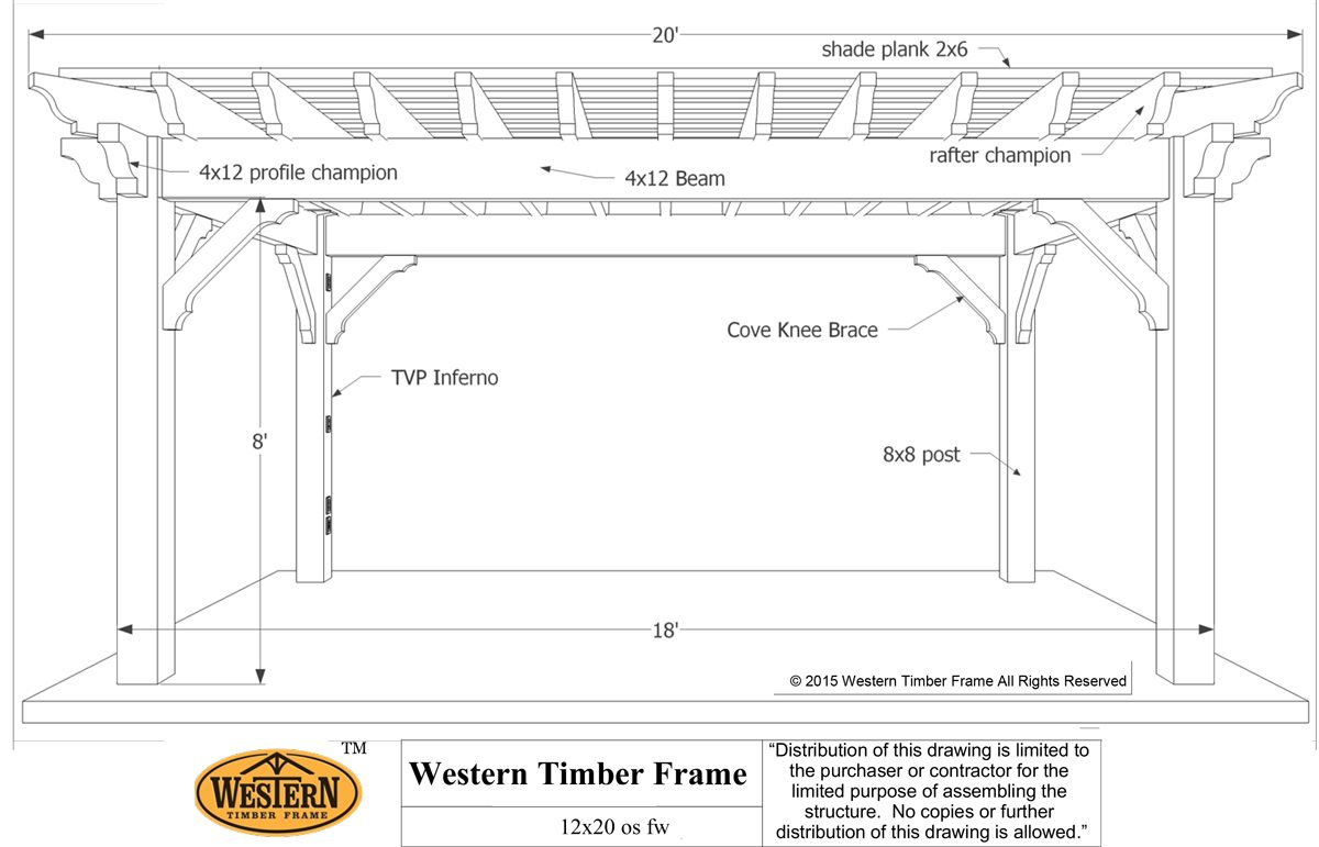 12' x 20' Rich Sequoia ShadeScape™ DIY Pergola Kit Install ...