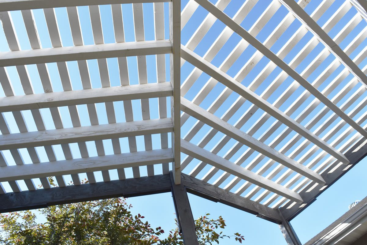 contemporary style pergola roof