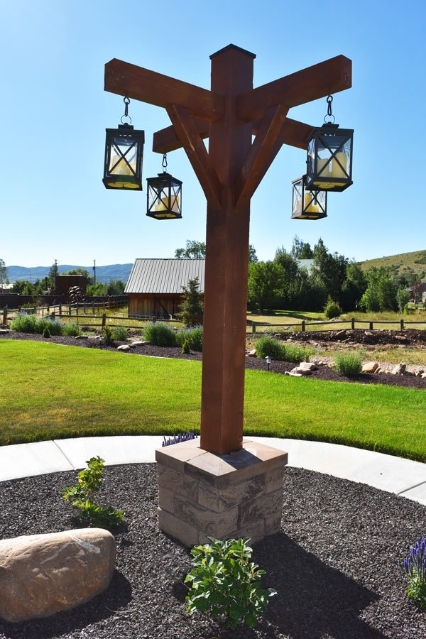 Candle lantern from timber