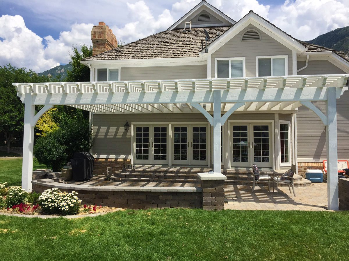 Wow 12 X 20 White Timber Fast Easy Patio Shade Western Timber Frame