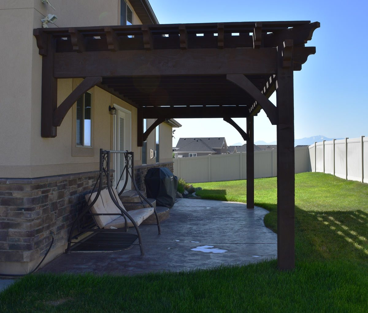 attached pergola kit - Easy 12' X 24' 11