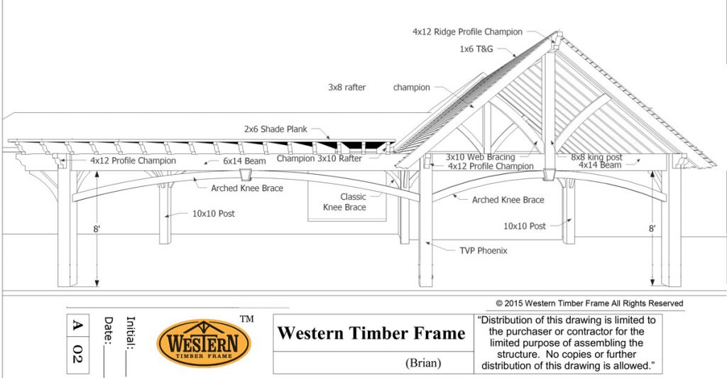 20u2032 X 22u2032 Pavilion 24u2032 X 26u2032 Pergola Plan Installed. Western Timber Frame™  ...