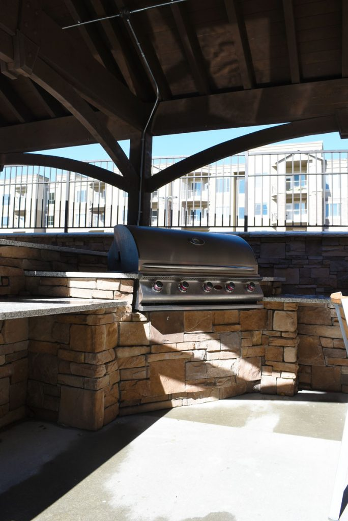 marble top barbecue grill bar