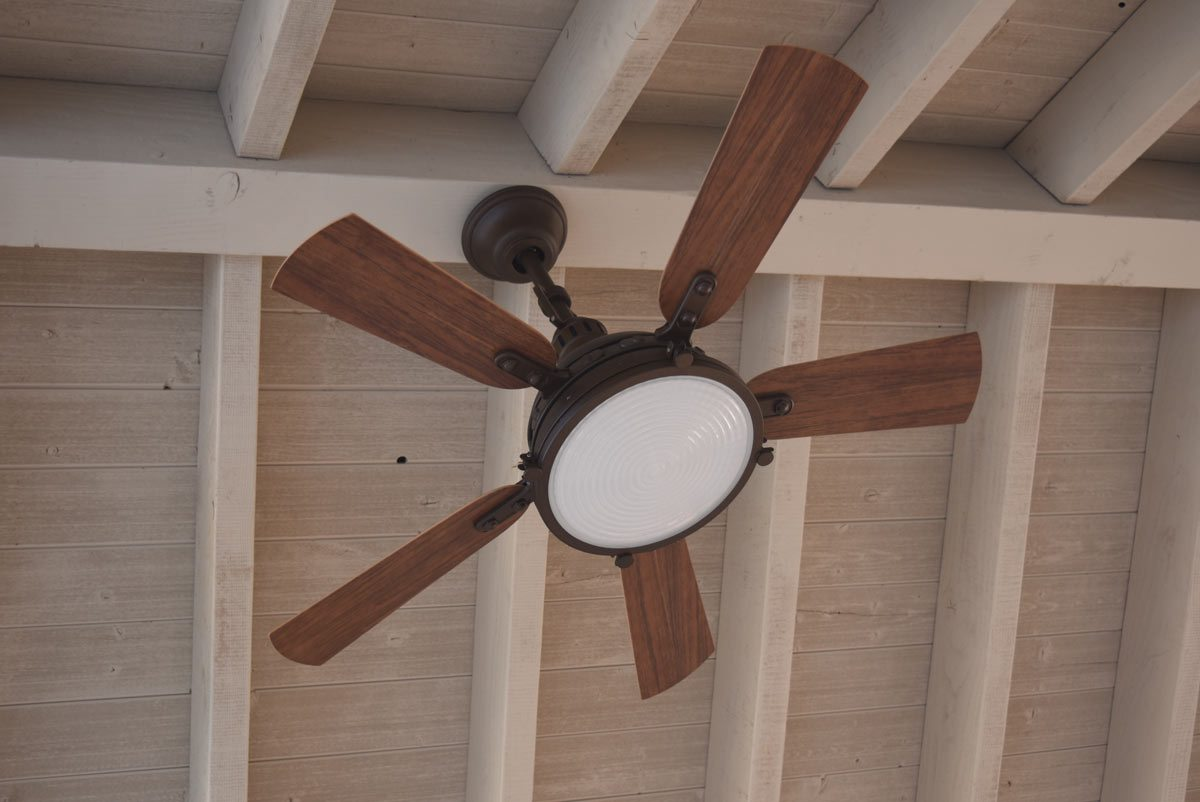 Timber Frame Ceiling Fan : Resawn timber post diy pavilion olde wood stain