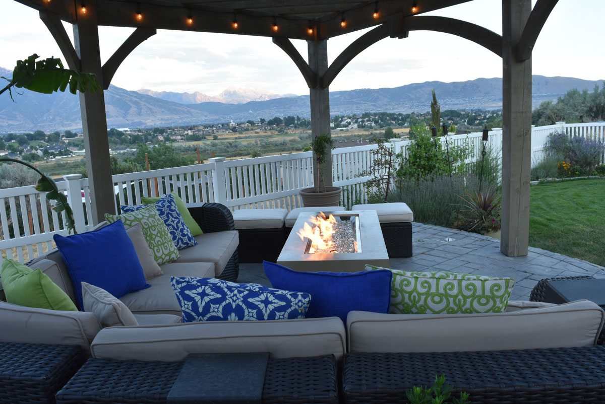 furniture pergola fire table