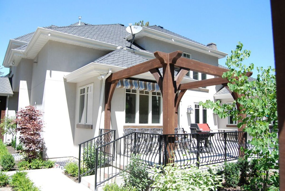 timber frame pergola porch