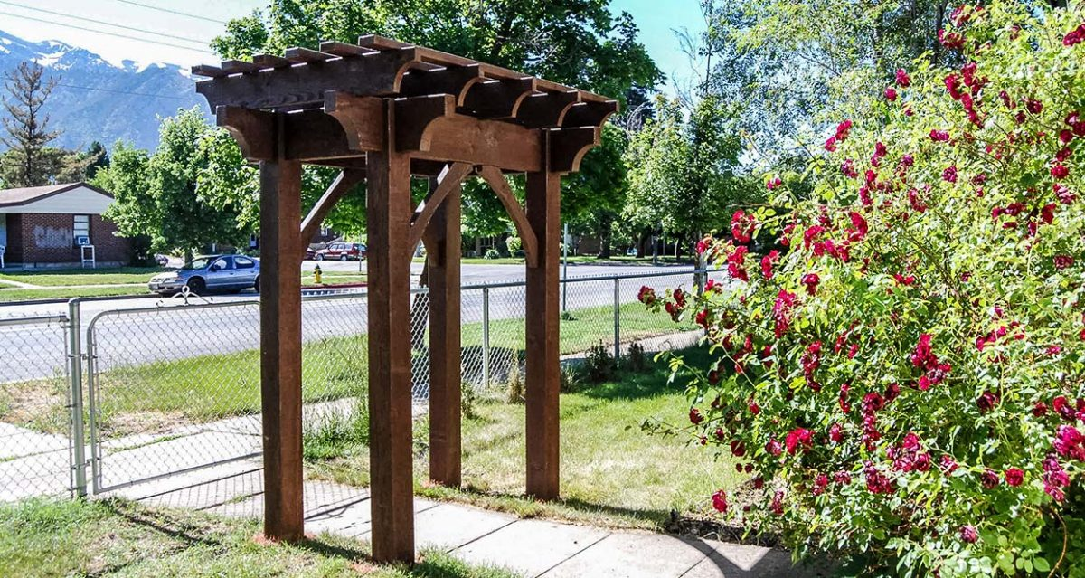 arbor with gate