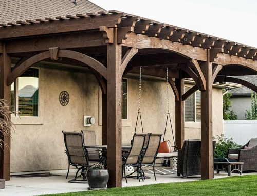 14′ x 20′ ShadeScape™ Mountaintop Pergola w/ Moose View