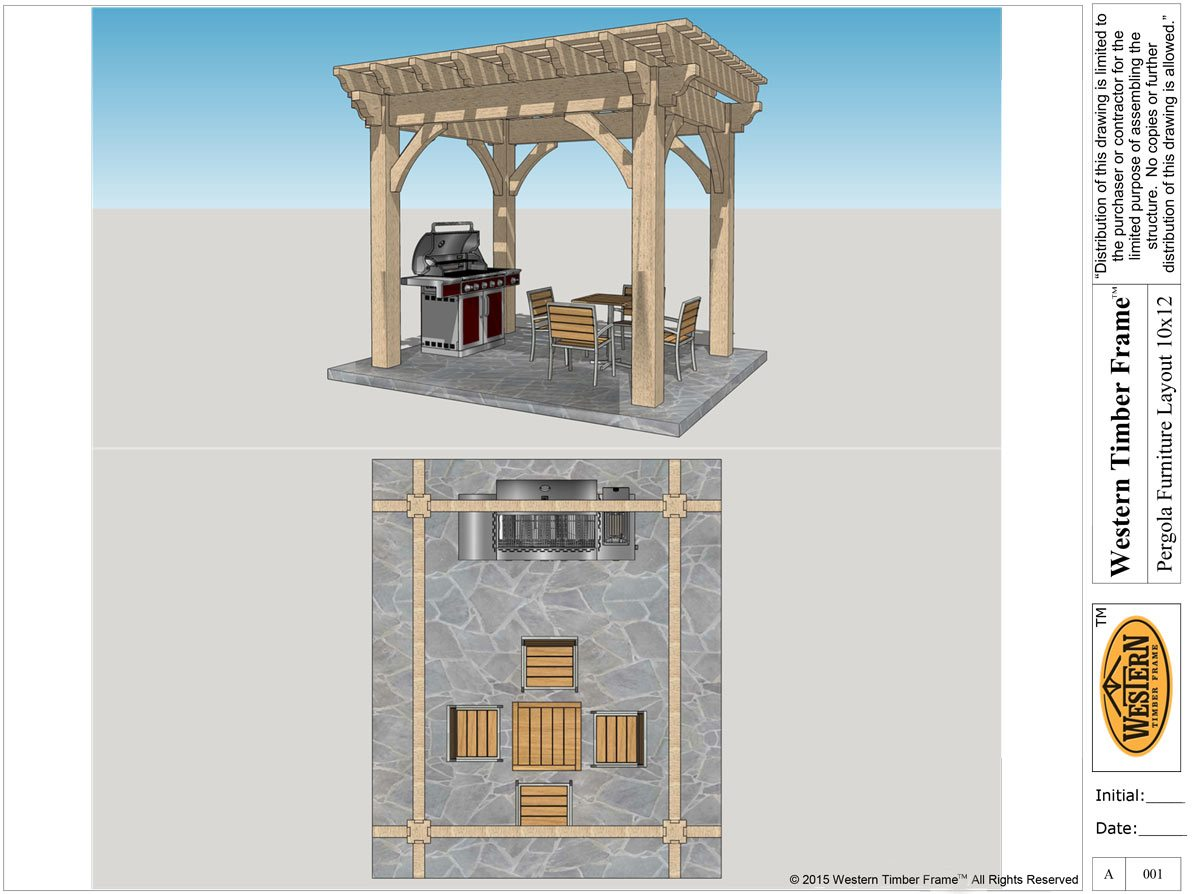 floor plan layout pergola furniture