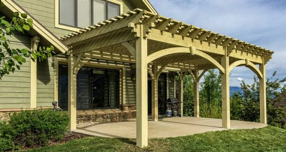Southwest style western timber frame for Southwest pergola
