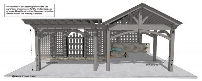 timber frame pavilion schematic
