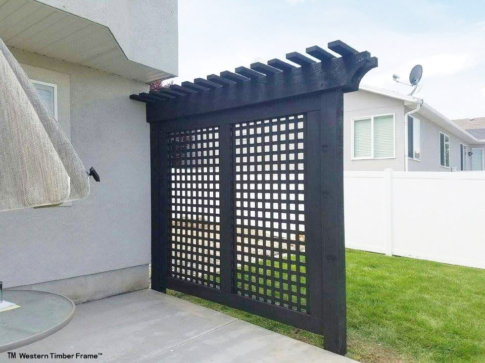 privacy screen wall timber