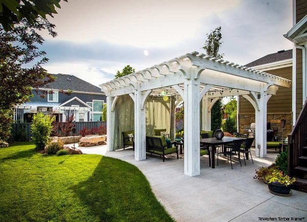 pergola cantilever roof power