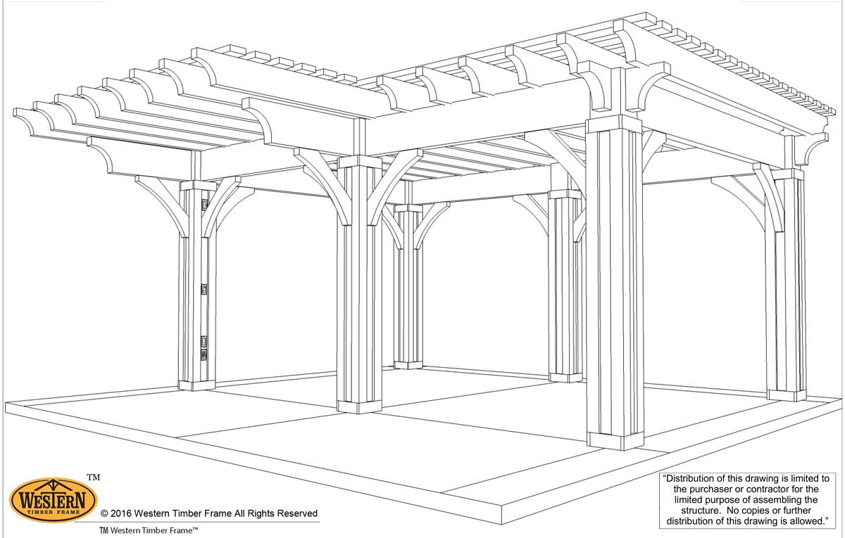 ShadeScape™ Pergola plan schematic