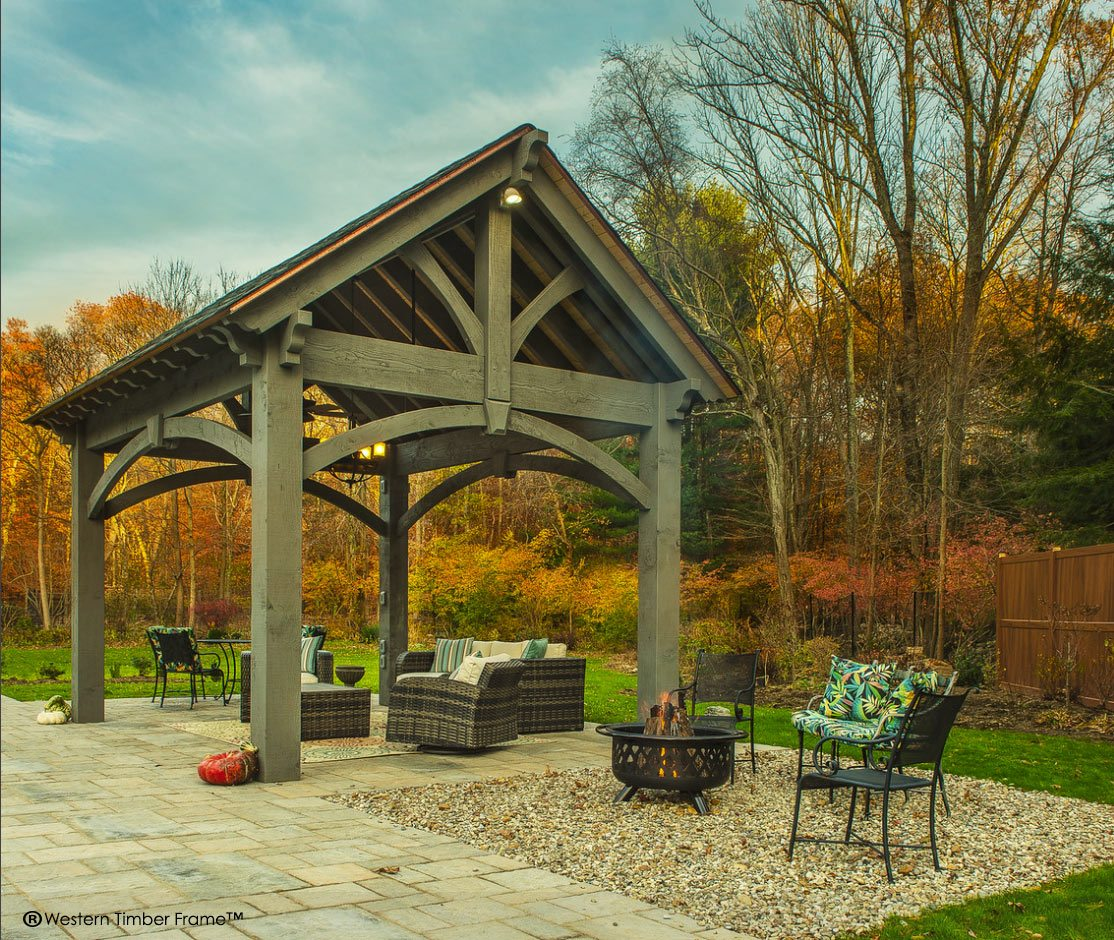 ShadeScape™ Timber Frame Pavilion Installed in Connecticut | Western ...