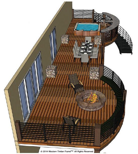schematic plan for timber frame deck
