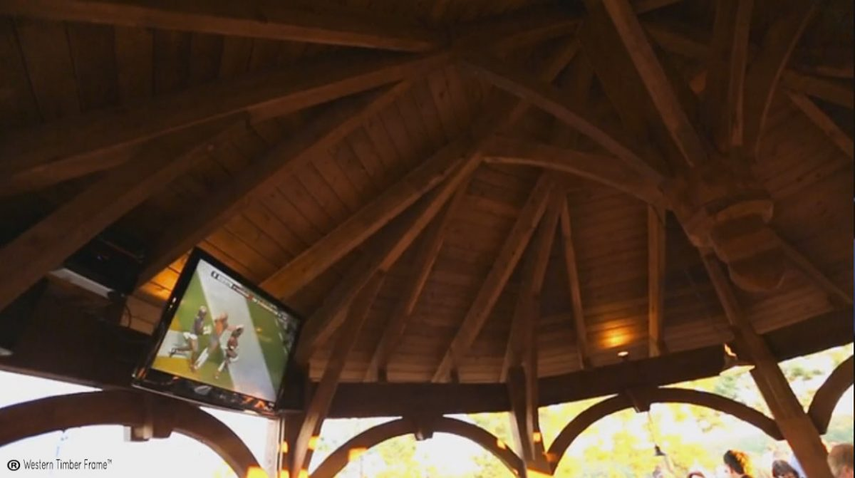 gazebo with outdoor television