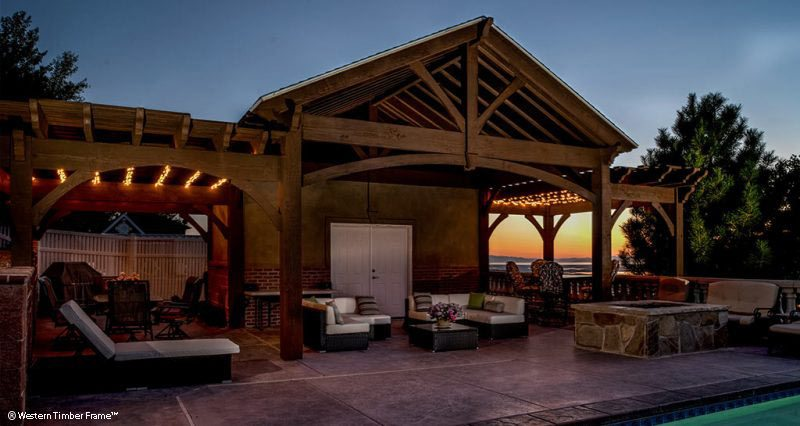 cabana poolhouse pergola