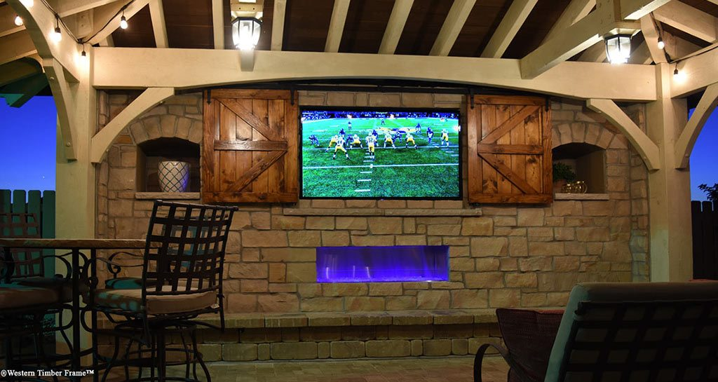 watch football under cabana