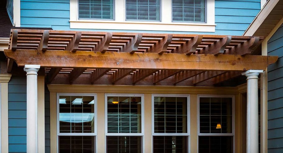 Green Passive Cooling W Timber Frame Awning Western Timber Frame