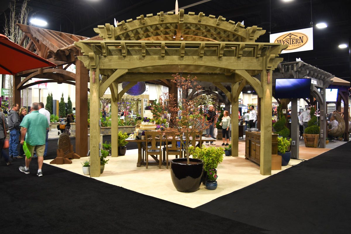 Double roof pergola at show