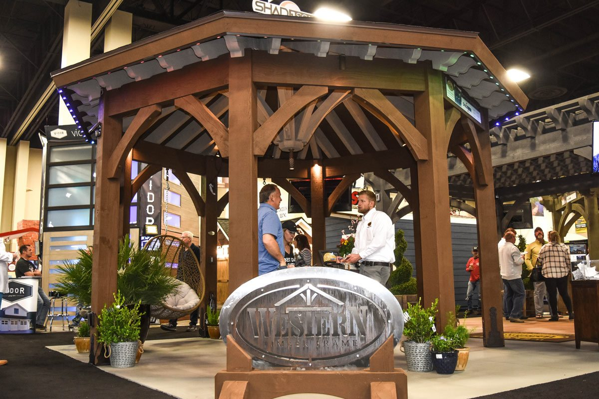 gazebo home show tow tone roof
