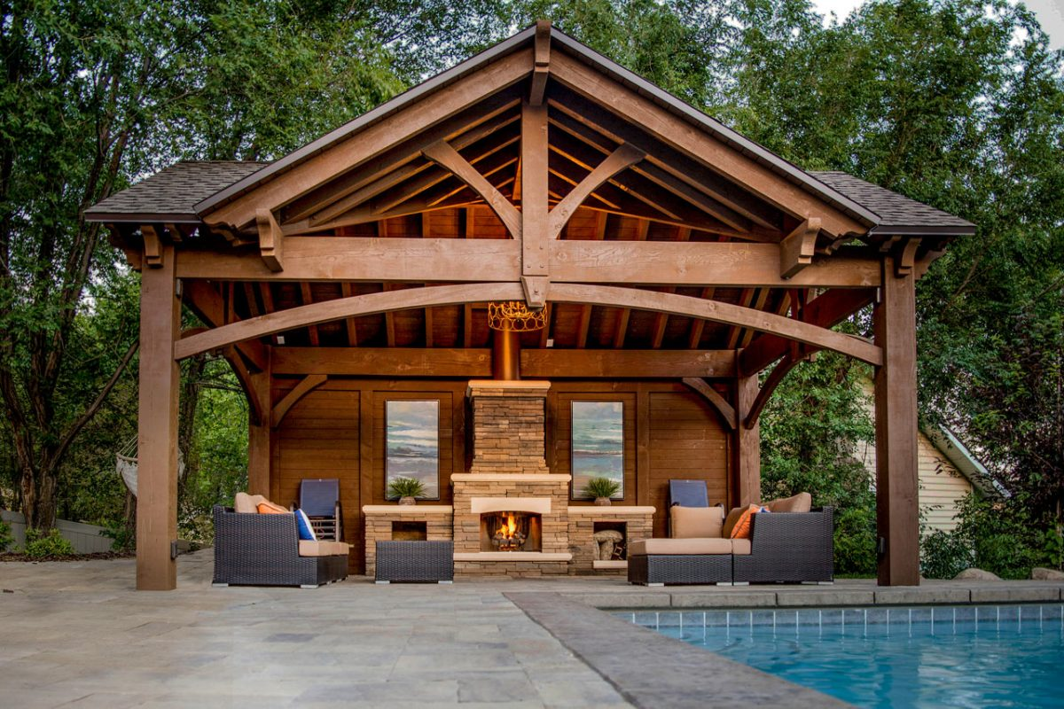 pavilion outdoor living room