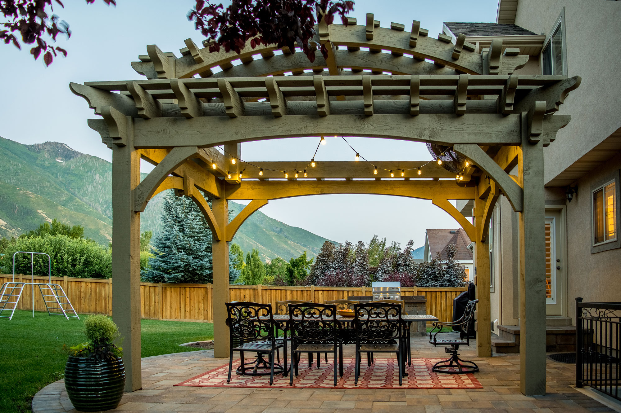 Double Tier Pergola Arched