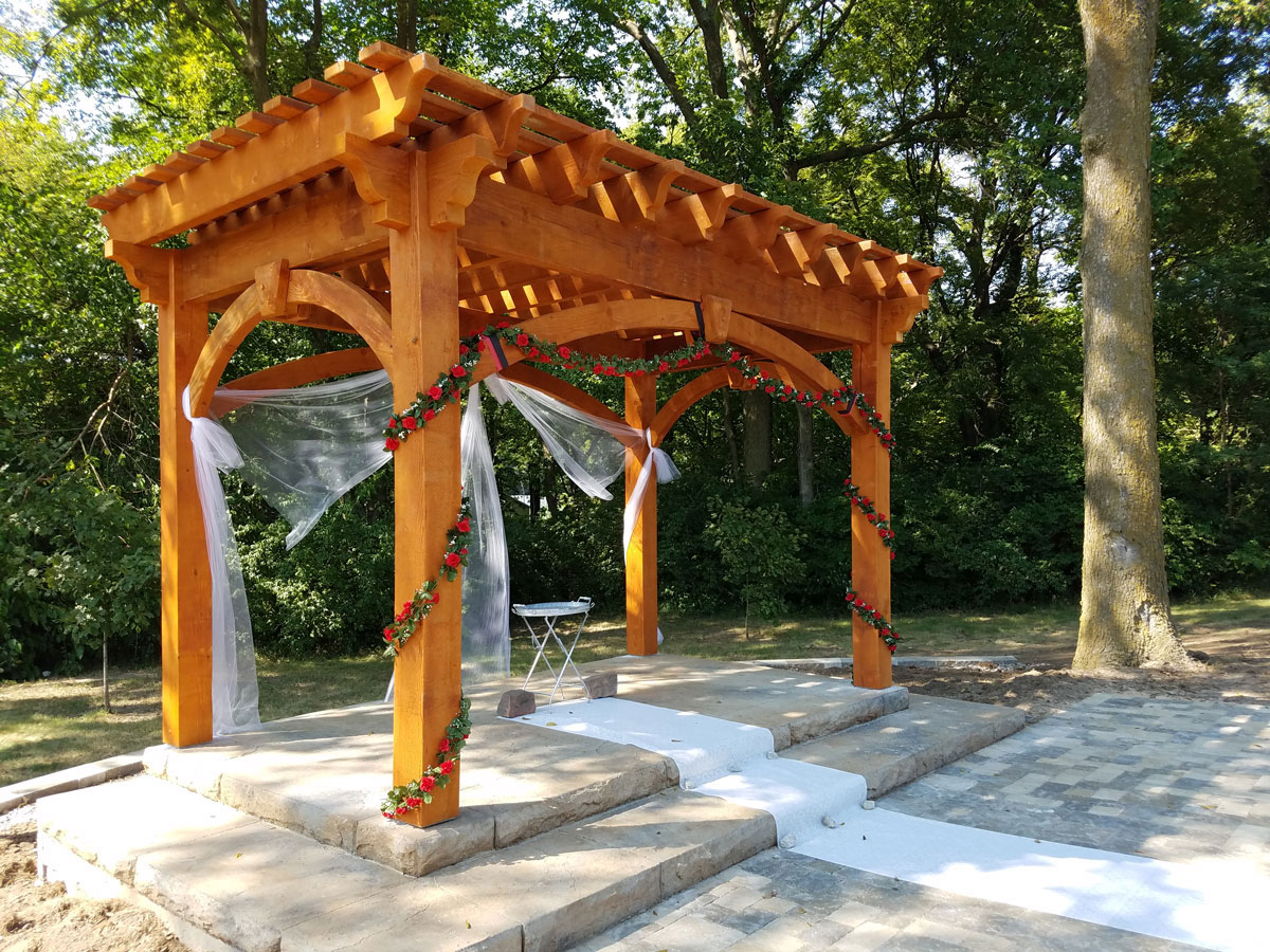 pergola kit outdoor wedding