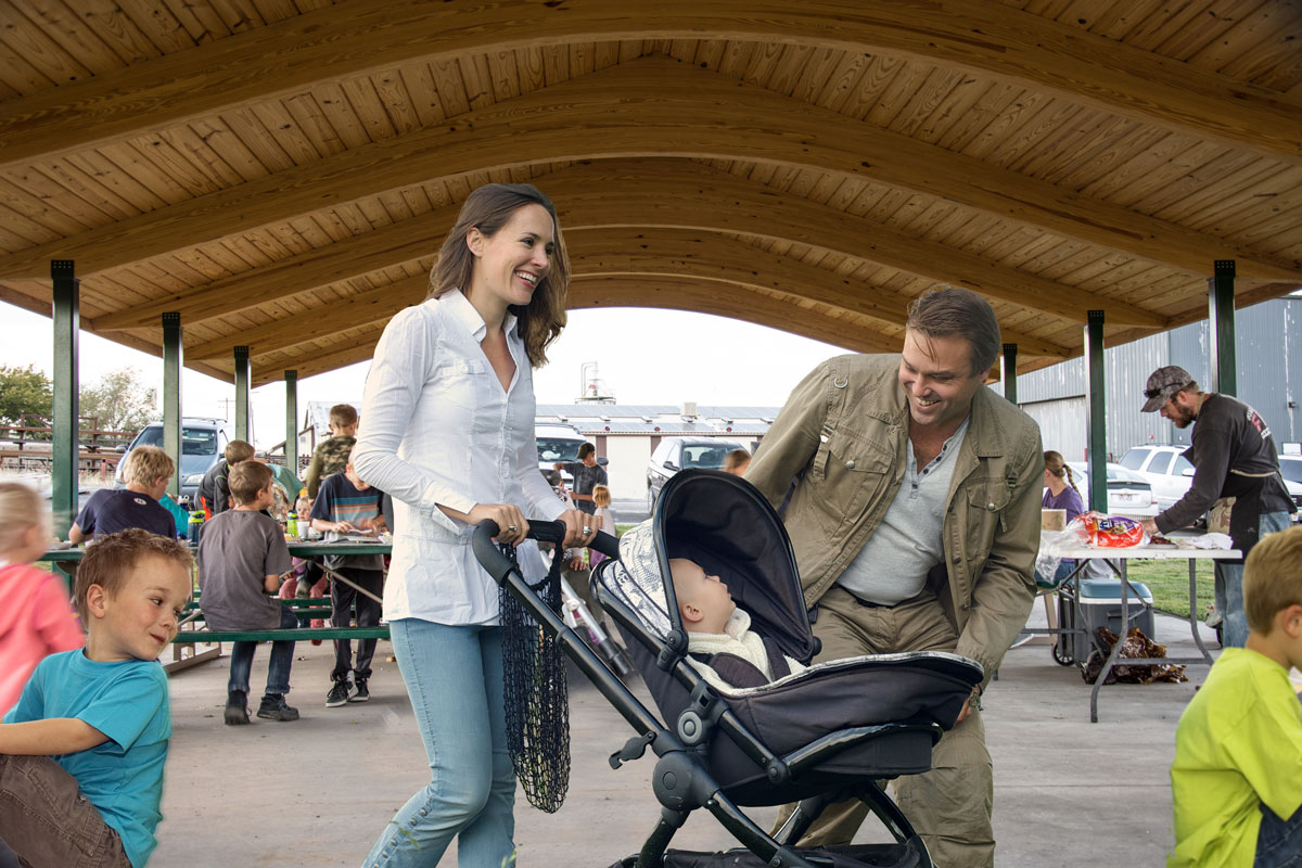 pavilion mother stroller