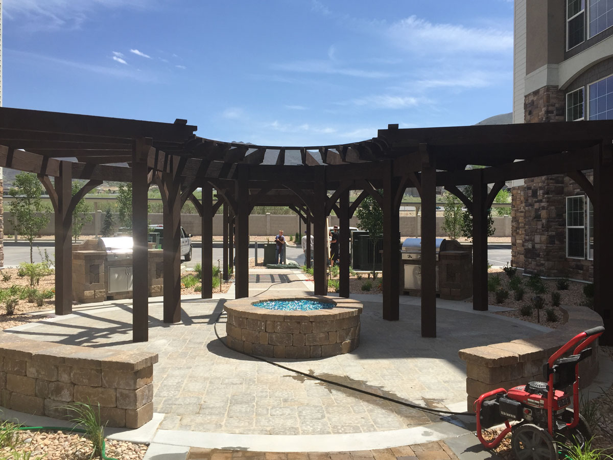 Curved Inverted Radius Style Shade Shelters Western Timber Frame