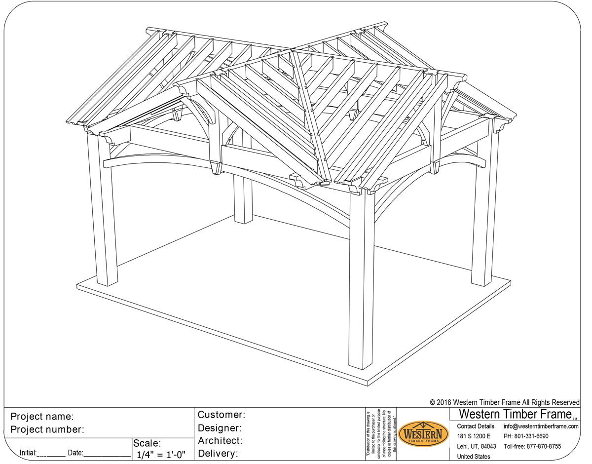 3 gable diy pavilion integrated power western timber frame for Diy timber frame plans