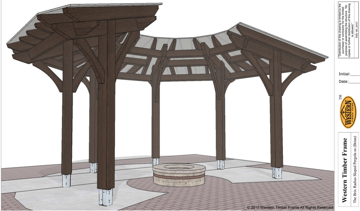 Diy pergola plan for fire pit area