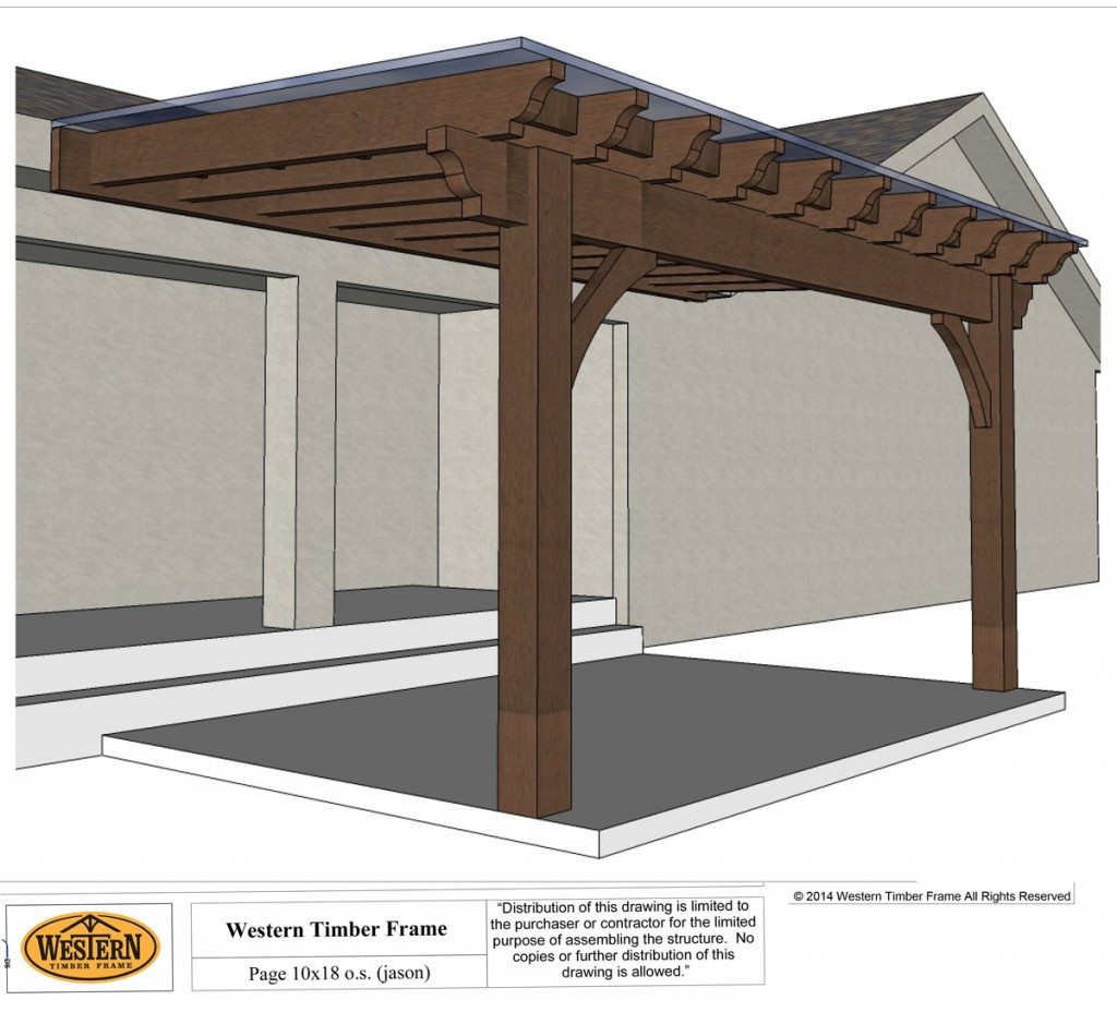 How to easily build a diy patio cover western timber frame for Diy timber frame plans