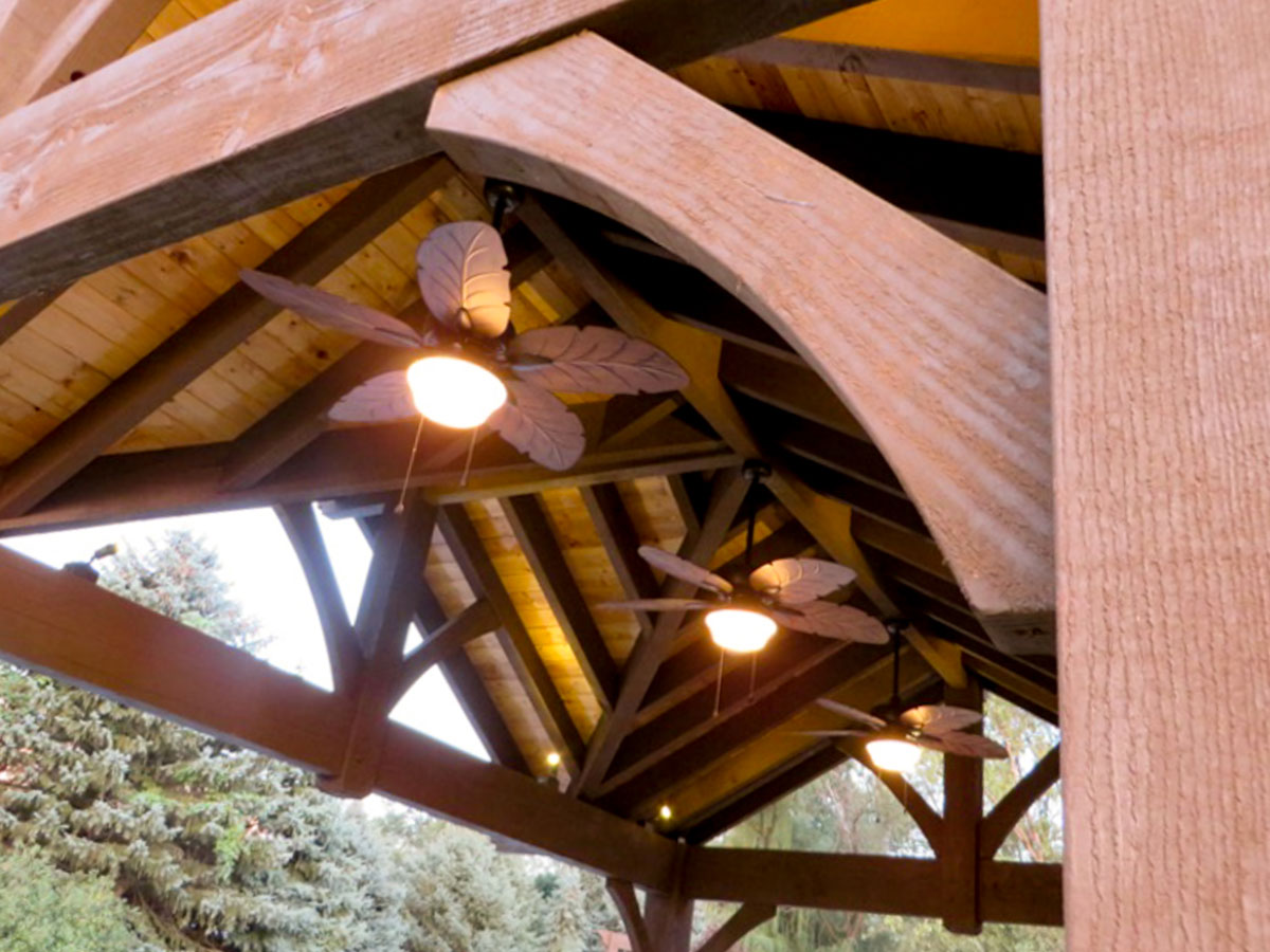 3 Gable Diy Pavilion Integrated Power Western Timber Frame