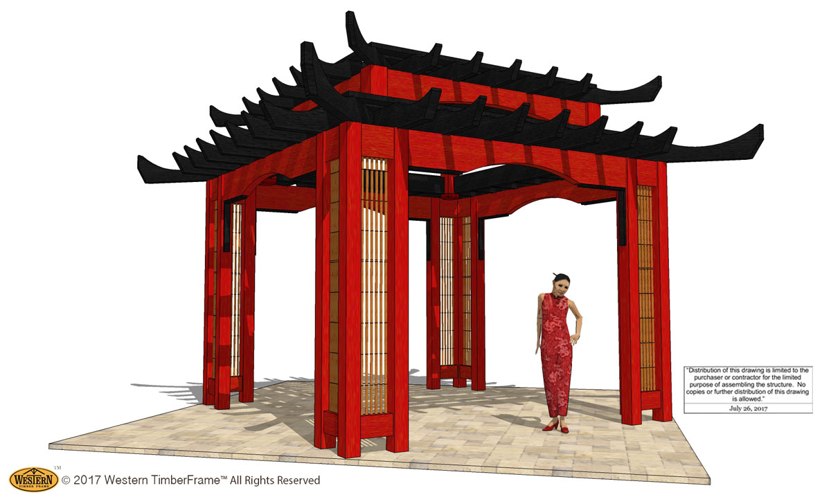Easy guide how to measure for a pergola western timber for Japanese pergola kits