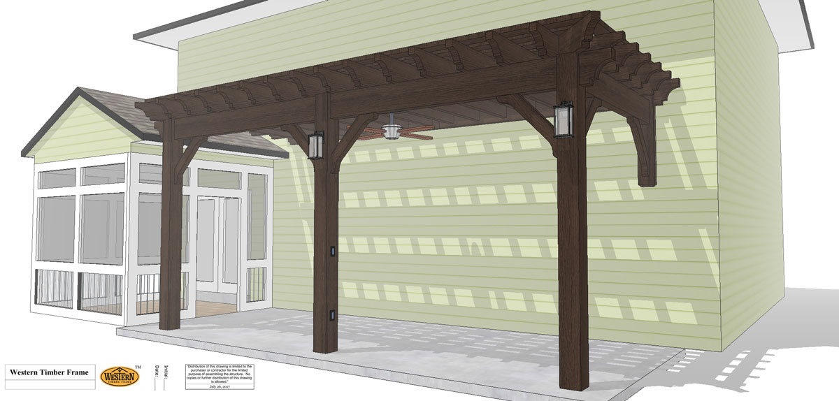 attached pergola plan
