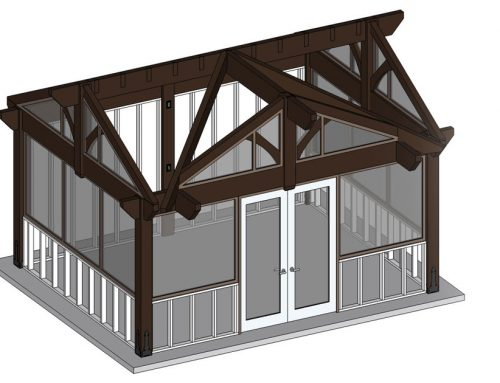 3 Gable Pavilion Kit Win for Sunroom