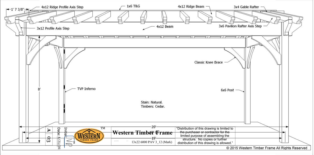 Choice california cedar diy pavilion western timber frame for Diy timber frame plans