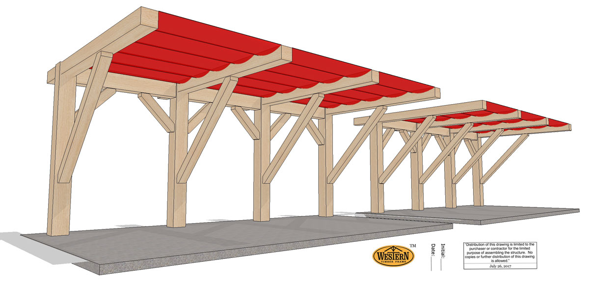 Timber frame custom pergola