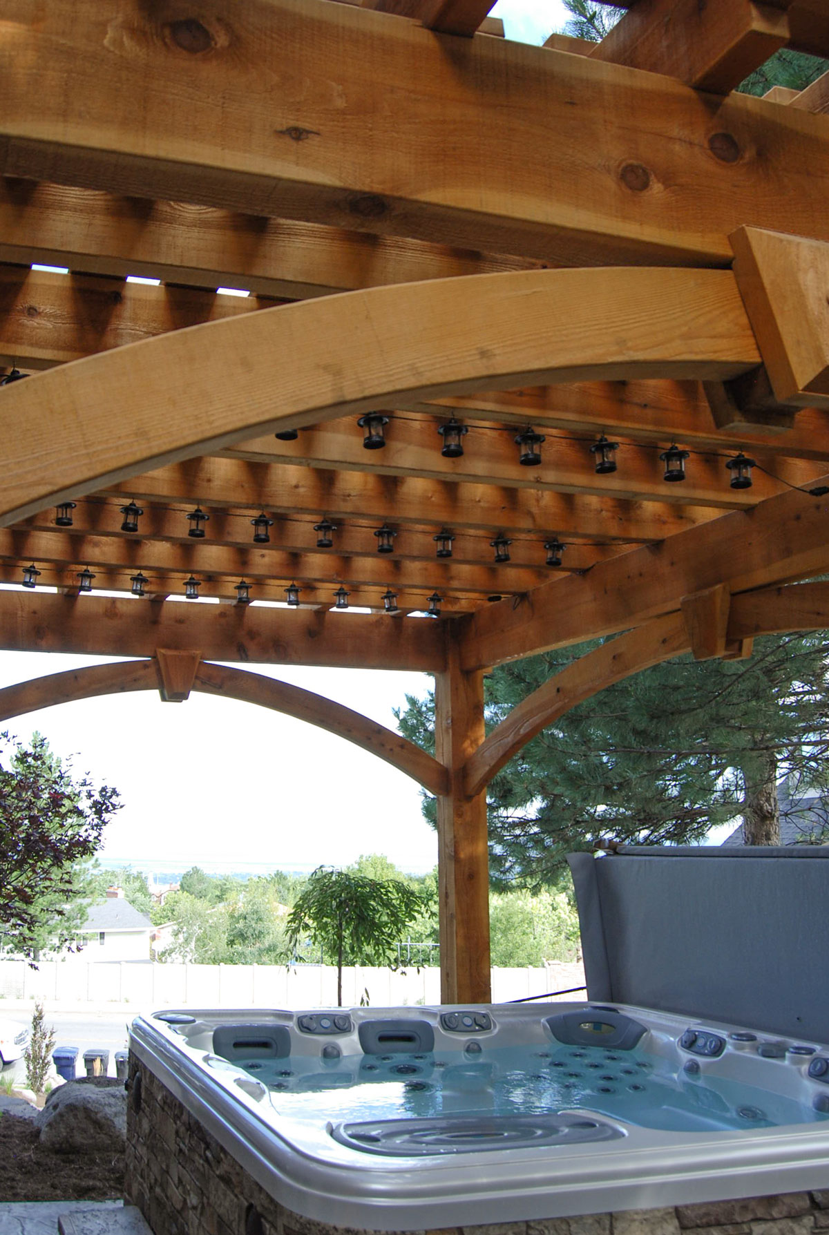 Cedar Easy Diy Pergola Hot Tub Cover Western Timber Frame