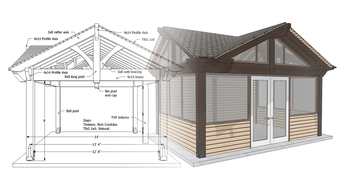 diy sunroom pavilion plan