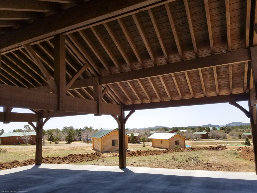 ShadeScape™ timber frame pavilion for ranch