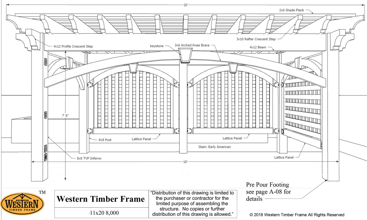 Shade w/Arch Privacy Panels & Anchor Plan | Western Timber Frame