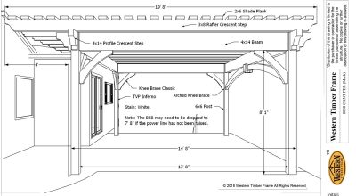 diy pergola plan with cantilever roof